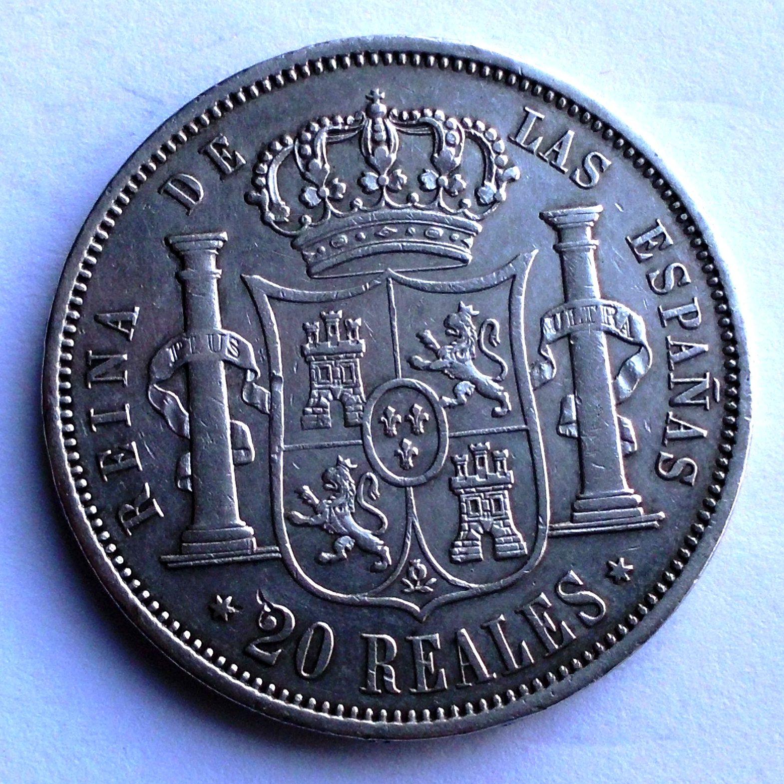 20 reales 1864 isabel II madrid B7jcl0