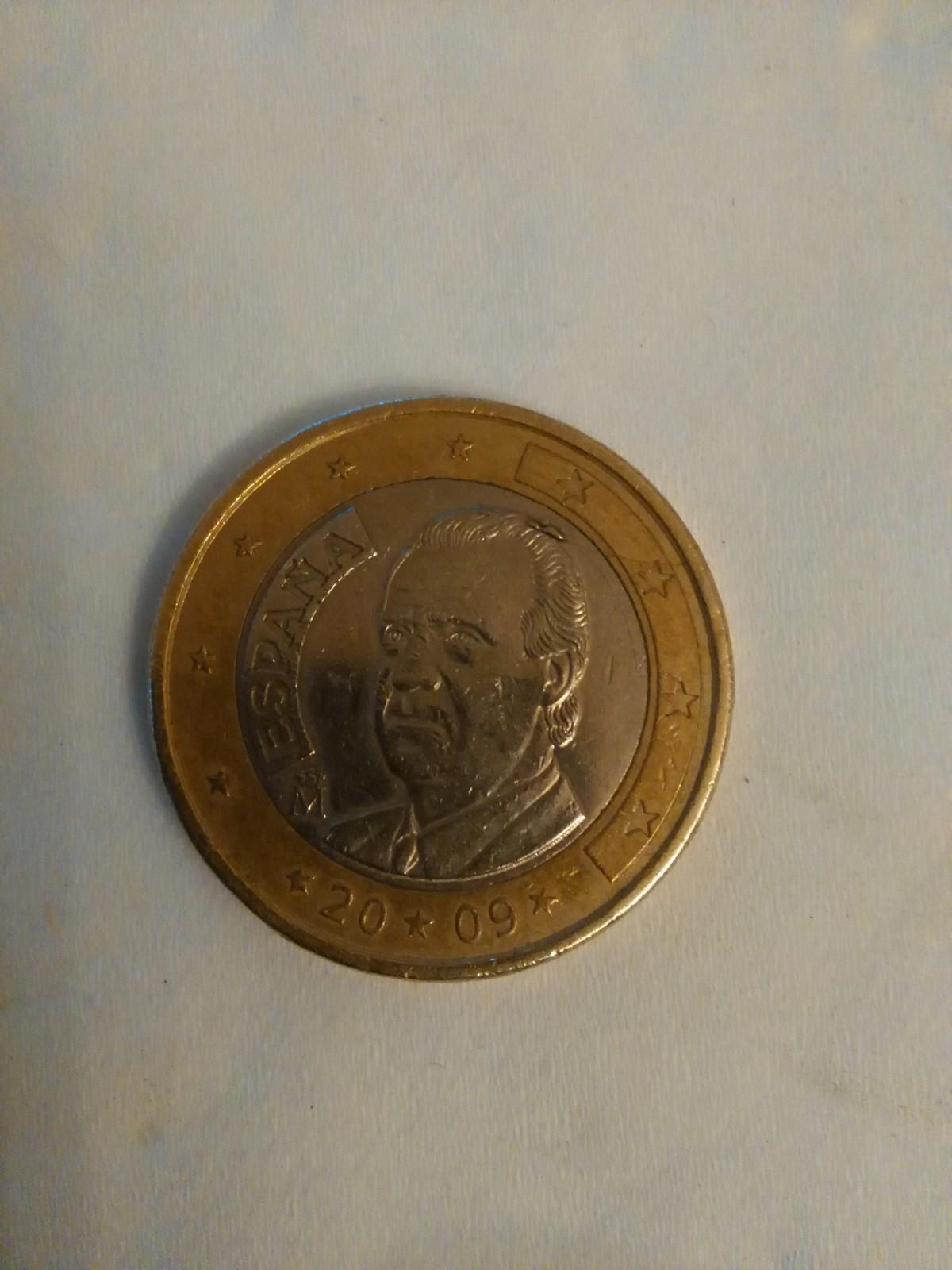 """1 Euro 2009 Juan Carlos """"Despeinado"""". Dqm8u9"""
