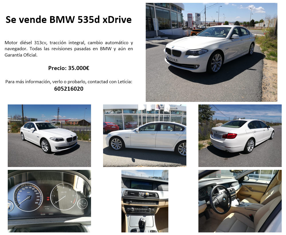 Se vende BMW 535d xDrive Fxcz1i