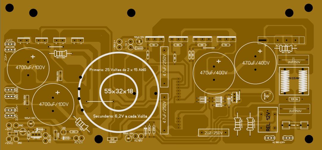 Fonte Chaveada 2000W SG3525 & IR2110 Hvugjt