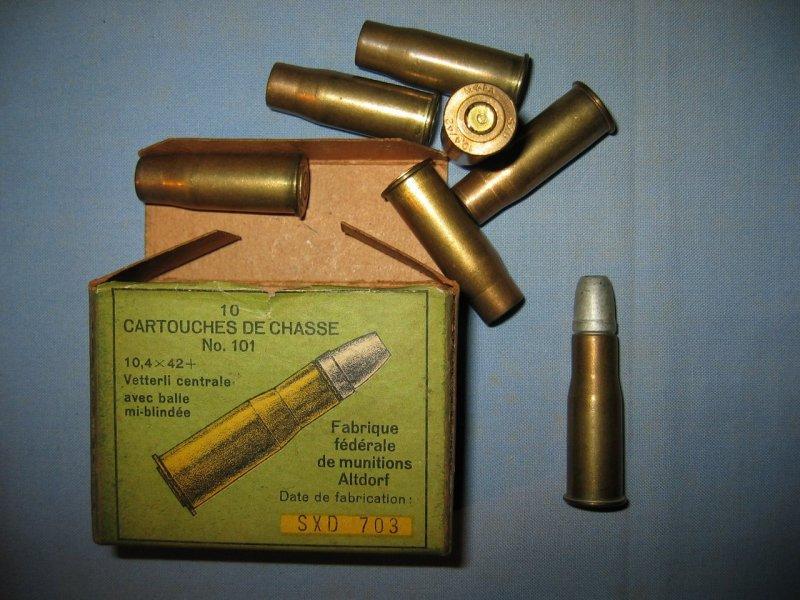 Munitions 10,40 Vetterli Suisse percussion centrale ???? Kbbtky