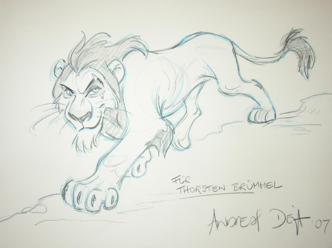 Andreas Deja, el animador de Scar. M97u5t