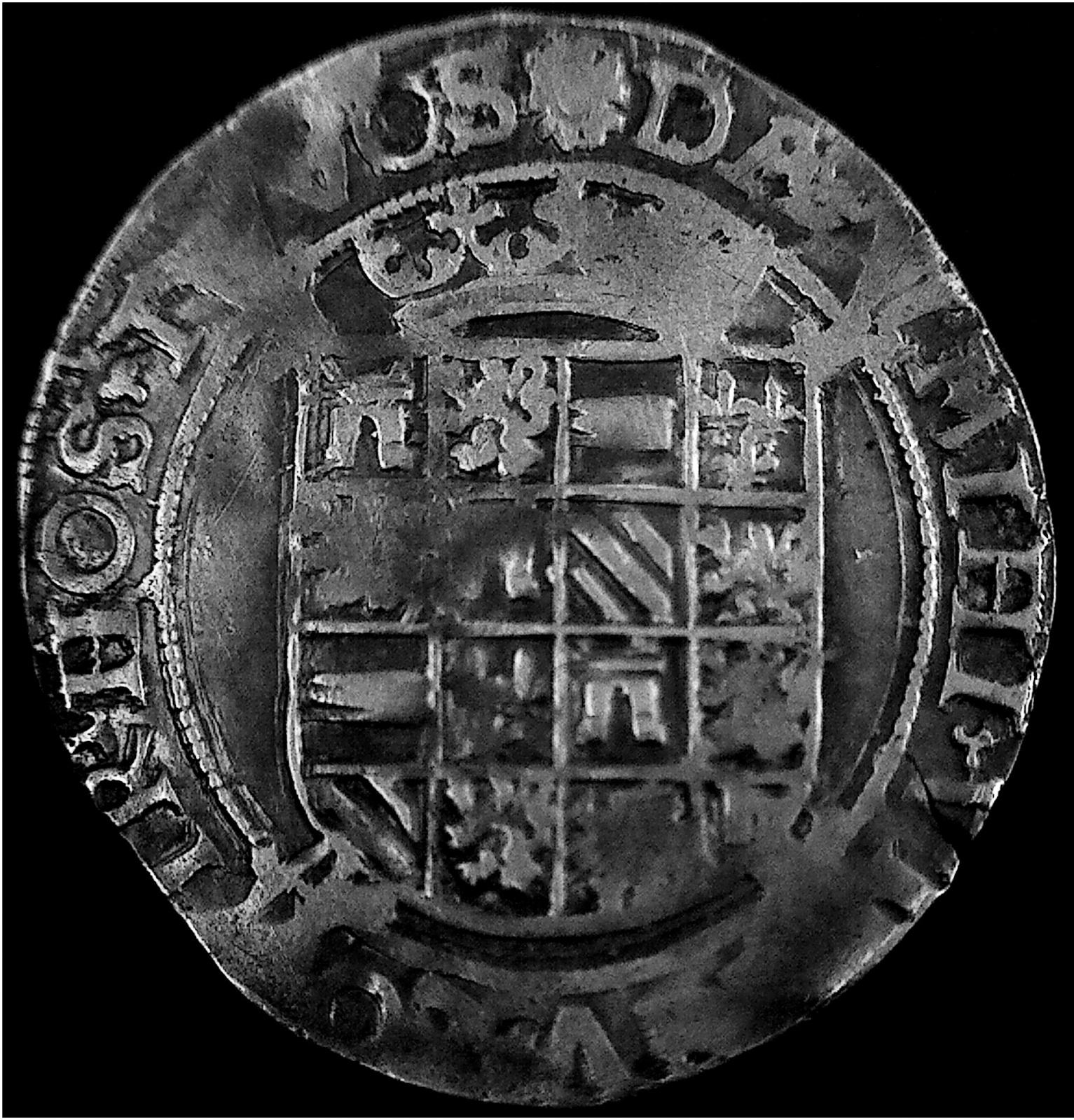 1 Vlieger ( 4 stuivers ) a nombre de Carlos v, Dordrecht ( Holanda ), 1540. Mk90d0
