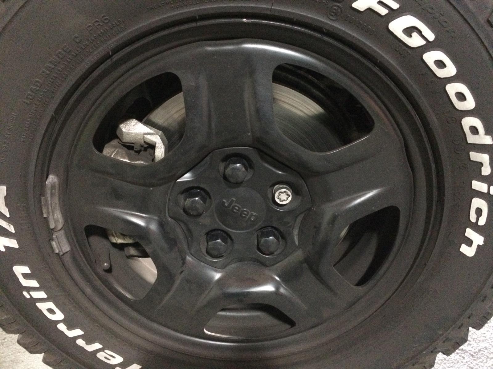Capa plástica preta parafusos das rodas de aço Noiuxk