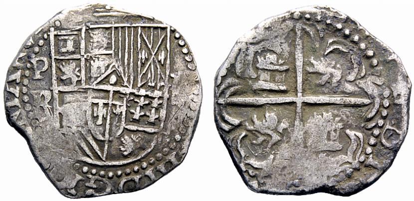 8 reales S/F (1577-1585). Felipe II. Potosí Npjomr