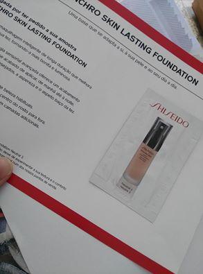 Amostra - Shiseido Synchro Skin Lasting Liquid Foundation Vq7d6t