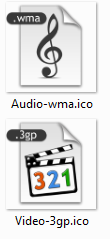 File specific icon don't work in the thumbnail Wvy74p
