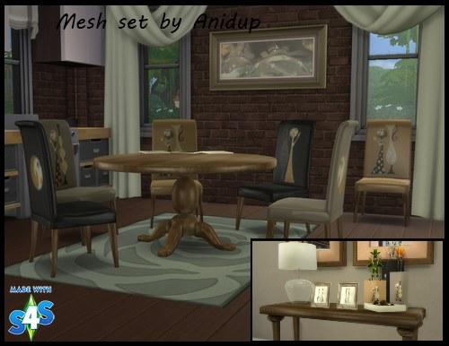 Ani's Round Dining Table Set 104j2o9