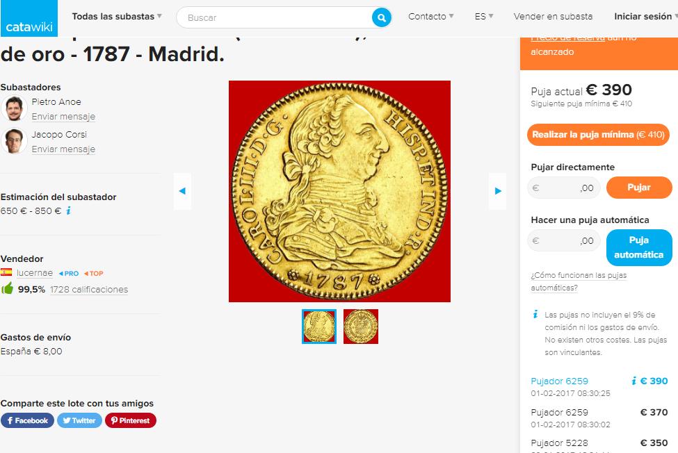 Moneda de Lucernae en Catawiki y en Áureo... a la vez? 106ht76