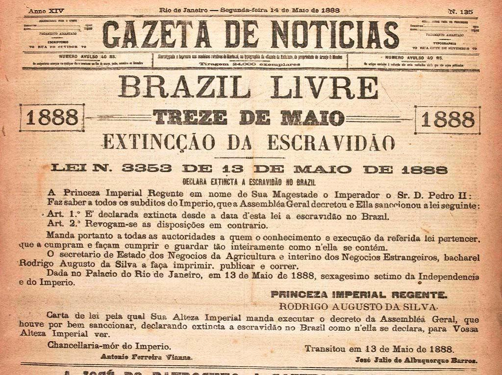 Ley Áurea: abolición de la esclavitud en Brasil 122kot4