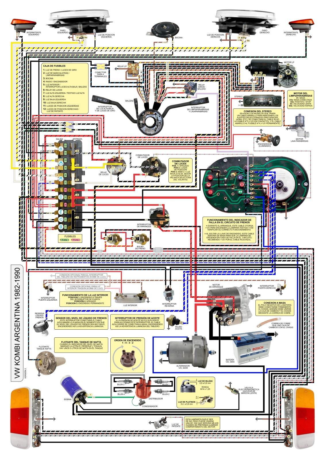 Diagrama electrico de Kombi. Un aporte 122p05w