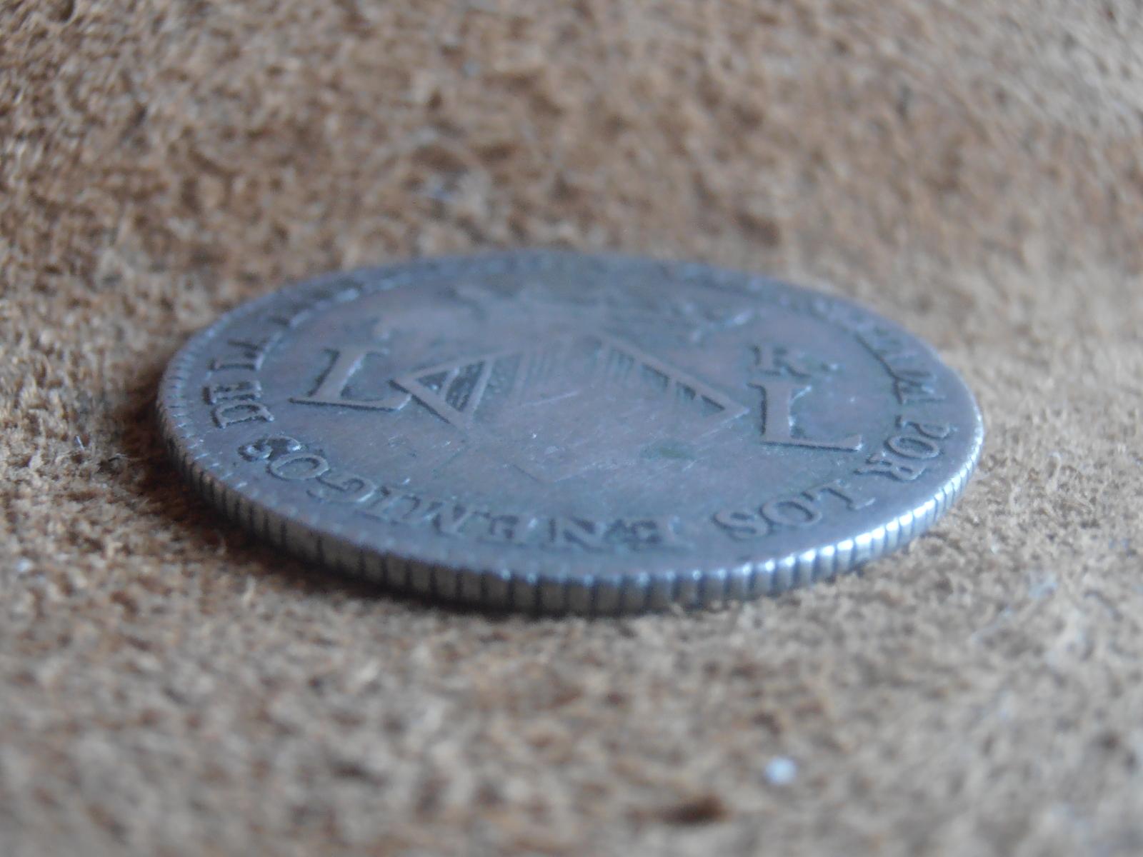 4 reales 1823. Fernando VII. Valencia (Módulo 2 reales ) 1538uvp