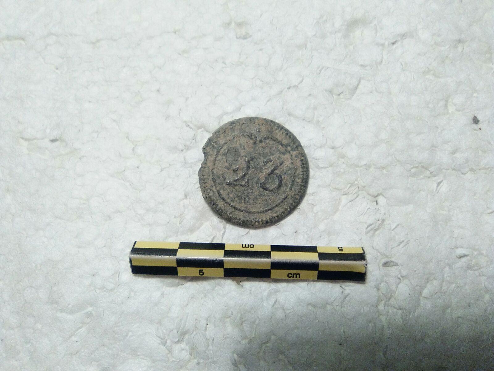 Botón del 23º Rgto. de Dragones (Caballería), ejto. francés 1803-1815 1s15ox