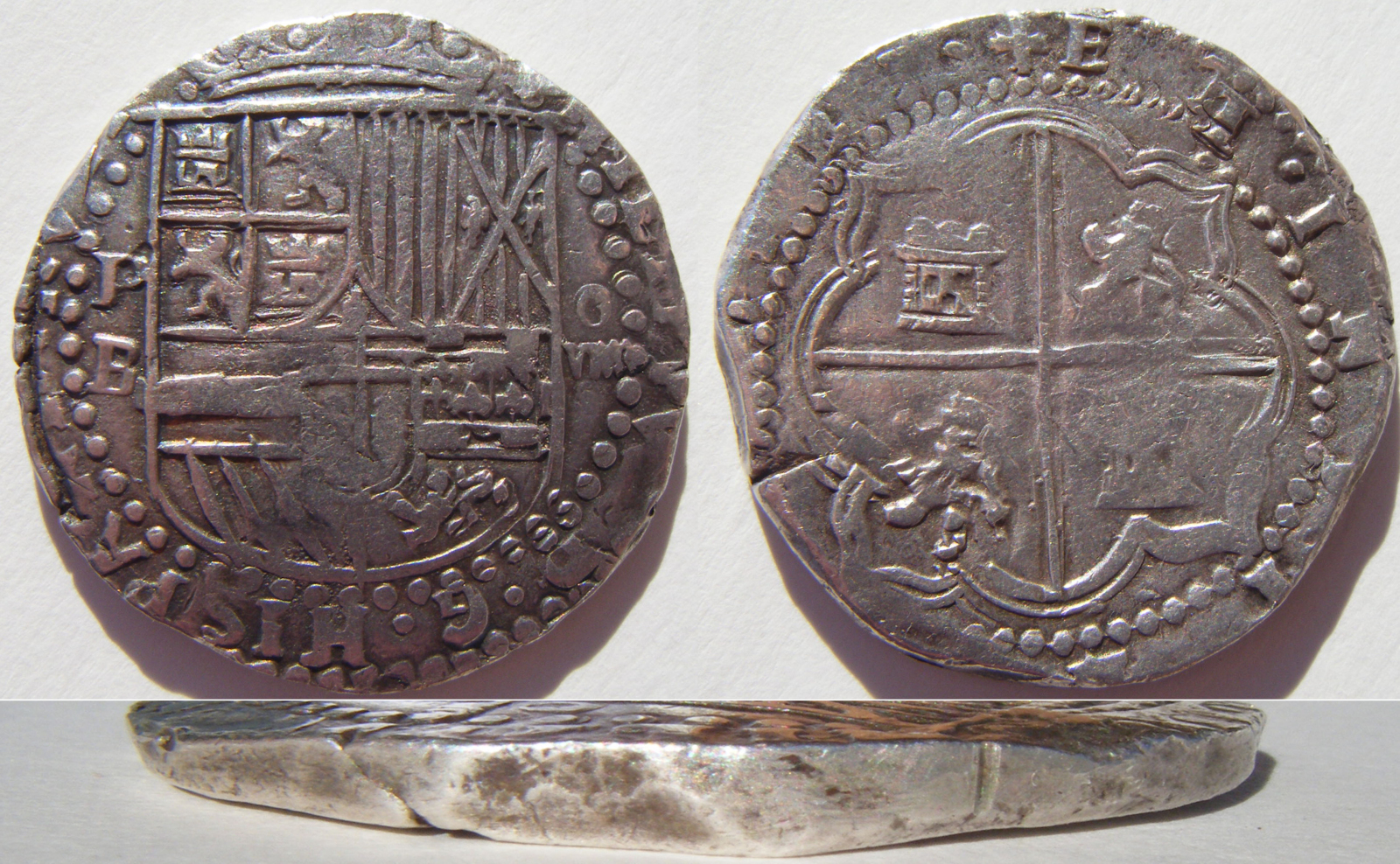 8 reales S/F (1577-1585). Felipe II. Potosí 209ki2r