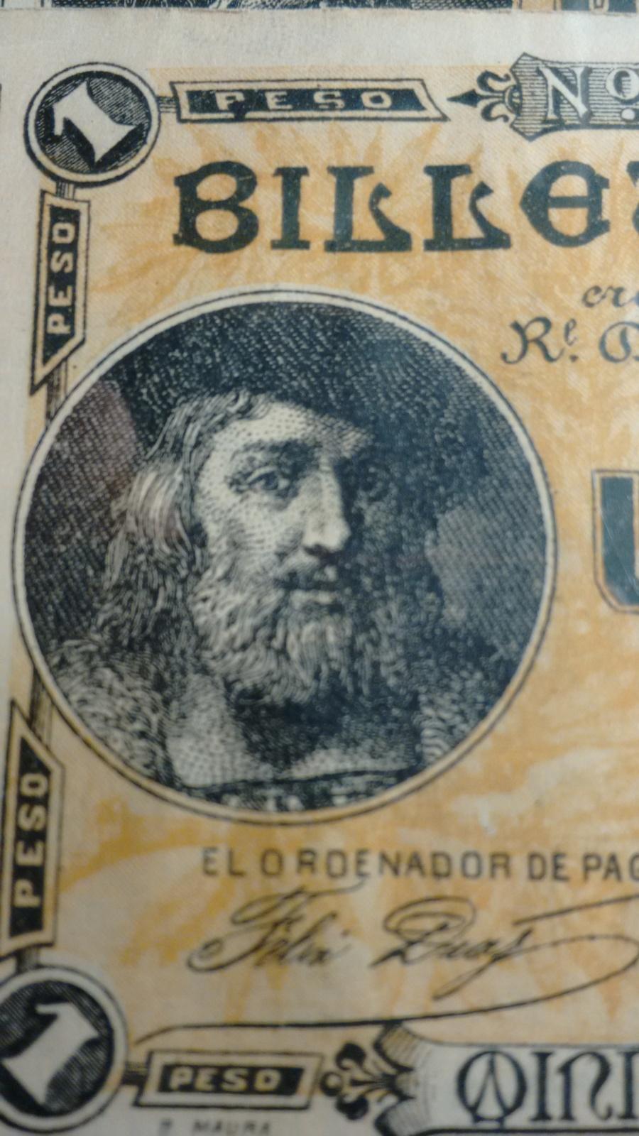 1 Peso 1895 Ultramar PUERTO RICO - Pareja correlativa - Ponce de León 2586qsm