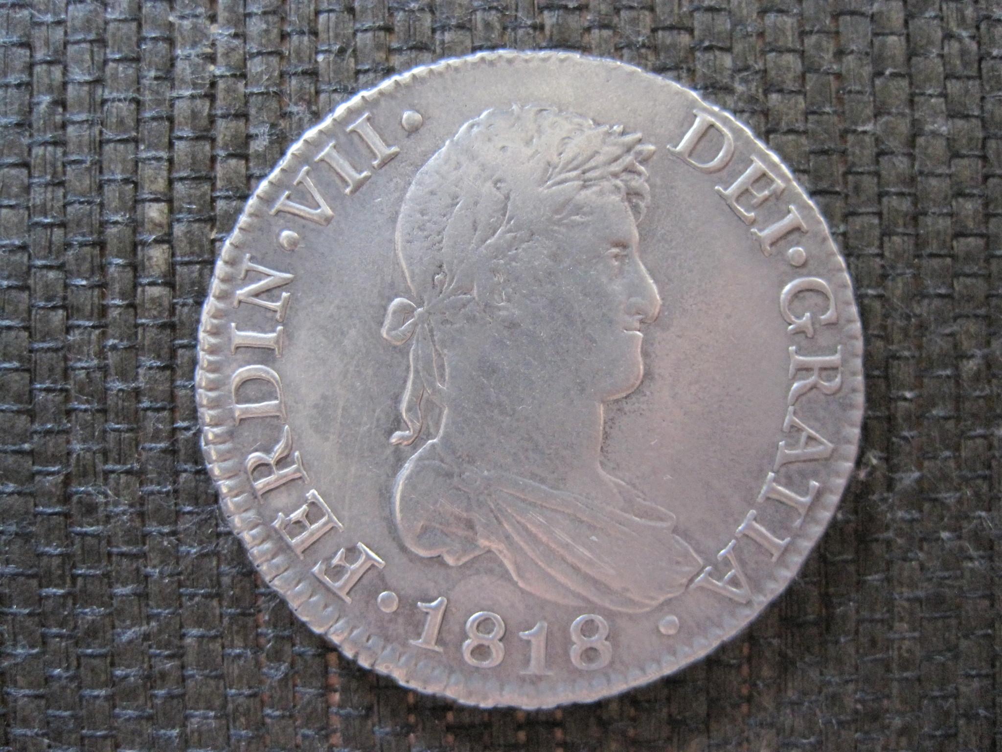 8 Reales 1818. Fernando VII. Sevilla 27xnk1w