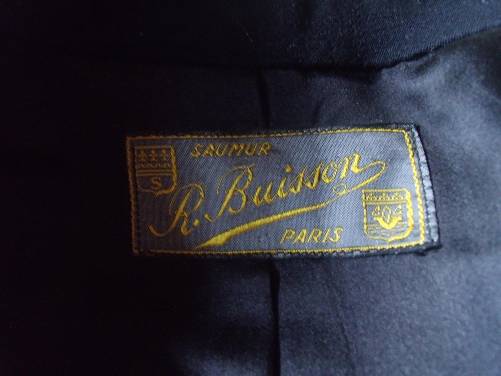étiquette maitre tailleur BUISSON à SAUMUR ? 2em3eag