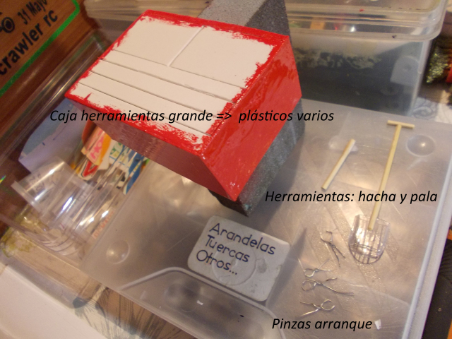 Diorama: garaje-taller crawler escala 1/10 2i6hr41