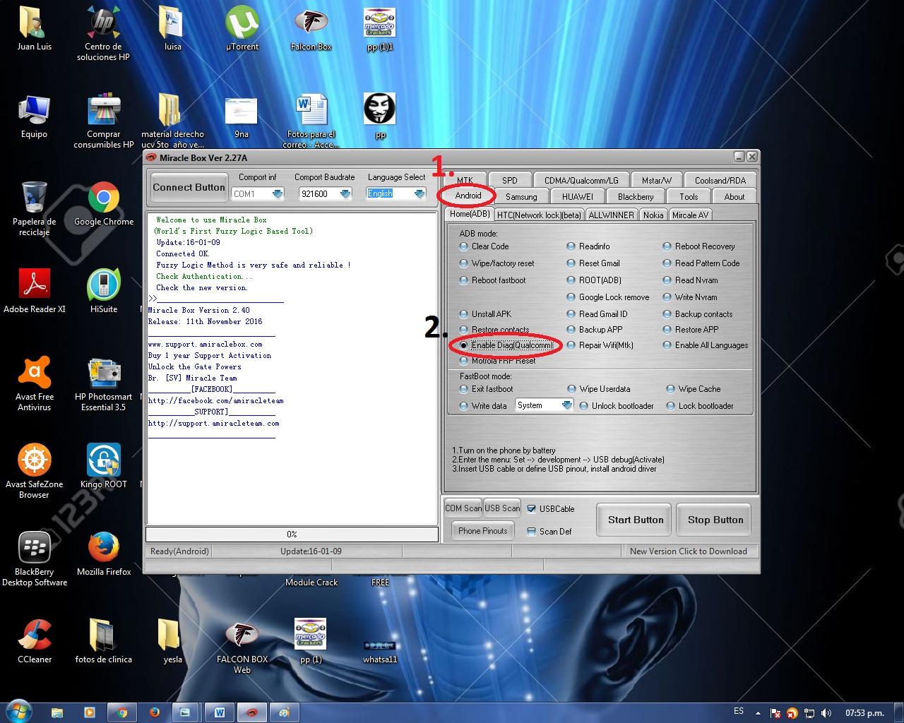 Reparar Imei HAIER W861 QUALCOMM con MIRACLE 2.27a 2irukja