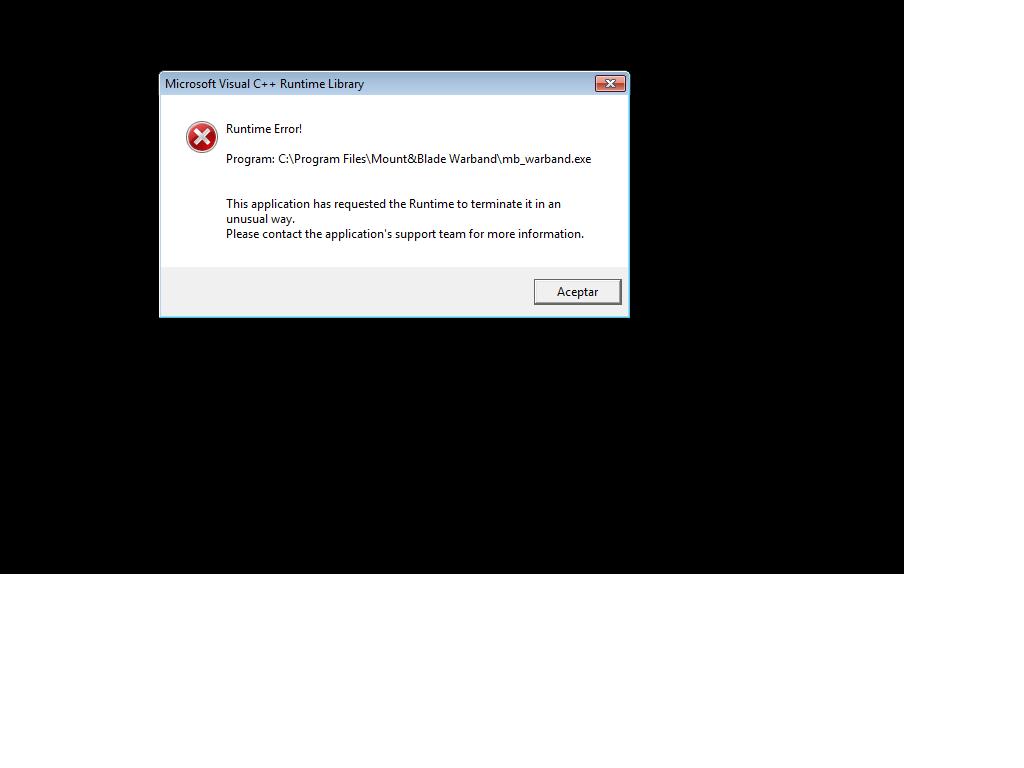 ¡Problema Microsoft Visual C++ Runtime Library 2iv1wkj