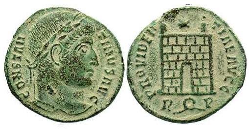 AE3 de Constantino I. PROVIDENTIAE AVGG. Roma  2jguc6
