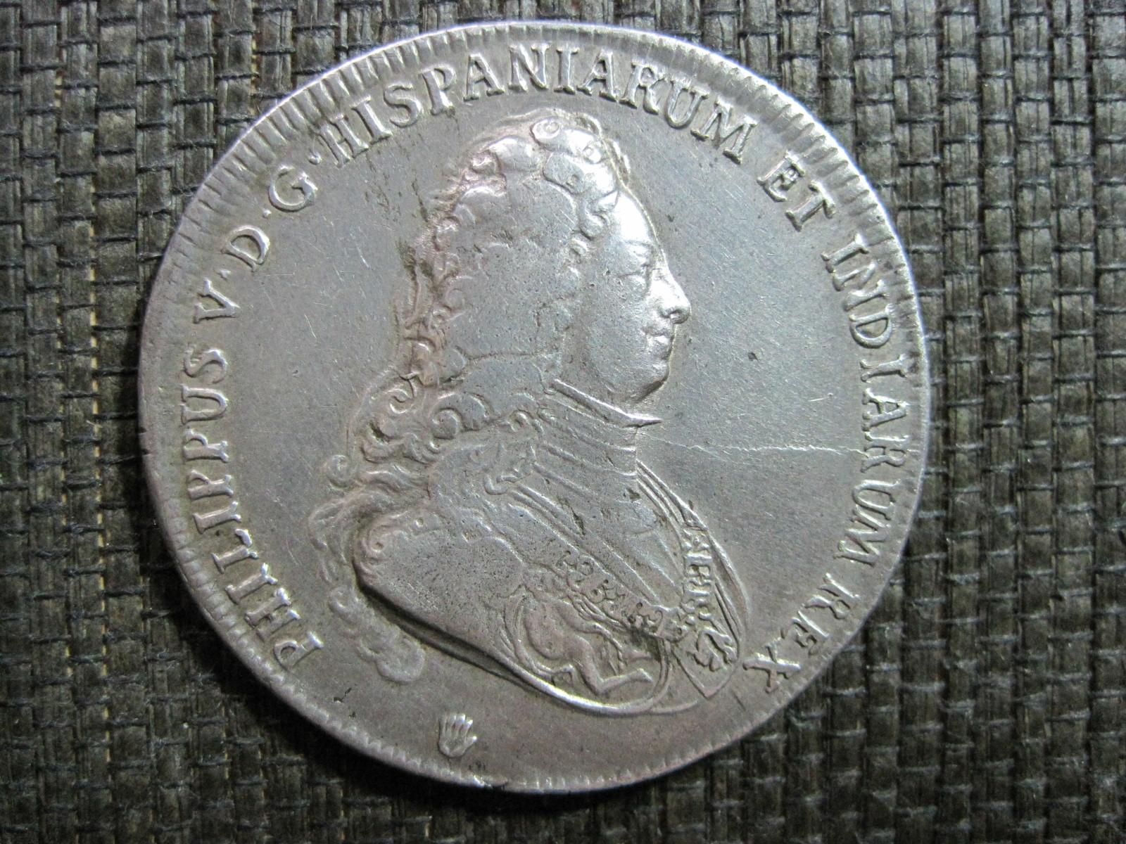1703 Ducatón Felipe V 2m5ko4m