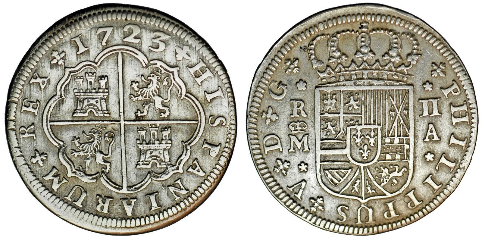 2 reales 1723. Felipe V. Madrid 2q0py6c