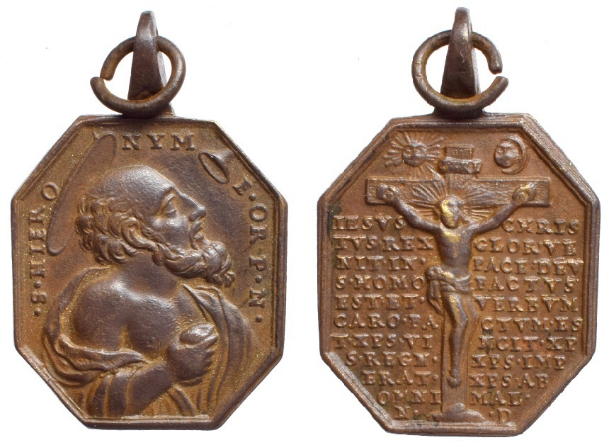 San Jerónimo de Estridón / Jesús crucificado y oración (R.M. SXVIII-P91) 2qv8uq8
