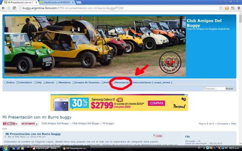 Mi Presentación con mi Burro buggy 2vryiko