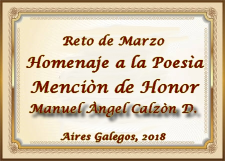PREMIACION DEL RETO DE MARZO 2018/ HOMENAJE A LA POESÍA 2vv9v60