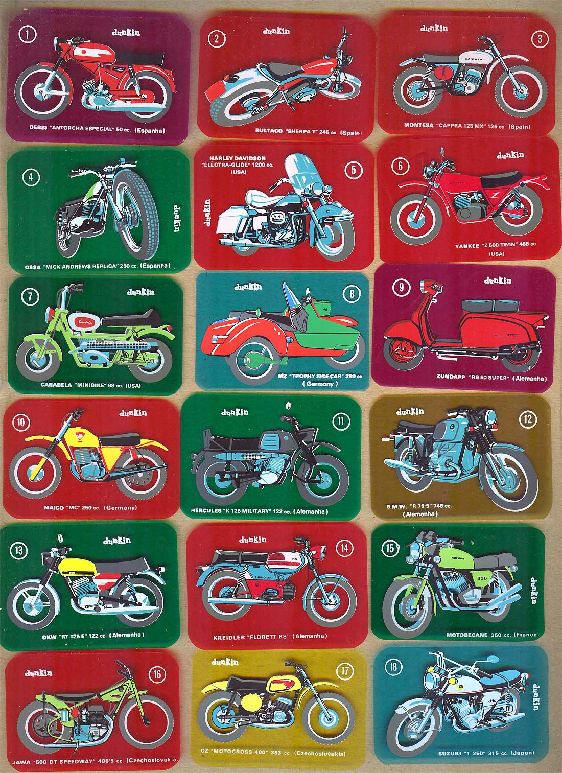 Las motos del chicle Dunkin 2vvqqvk