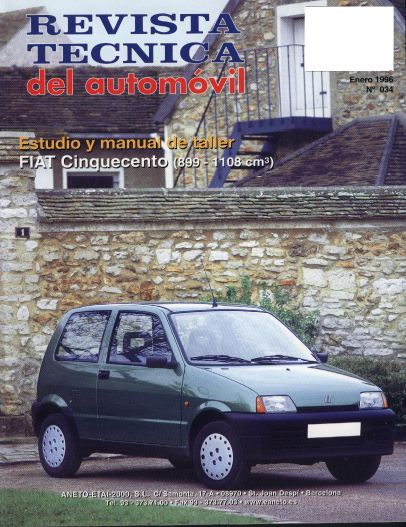 MANUAL TALLER (español): FIAT CINQUECENTO (1993-1998) 332qq9v