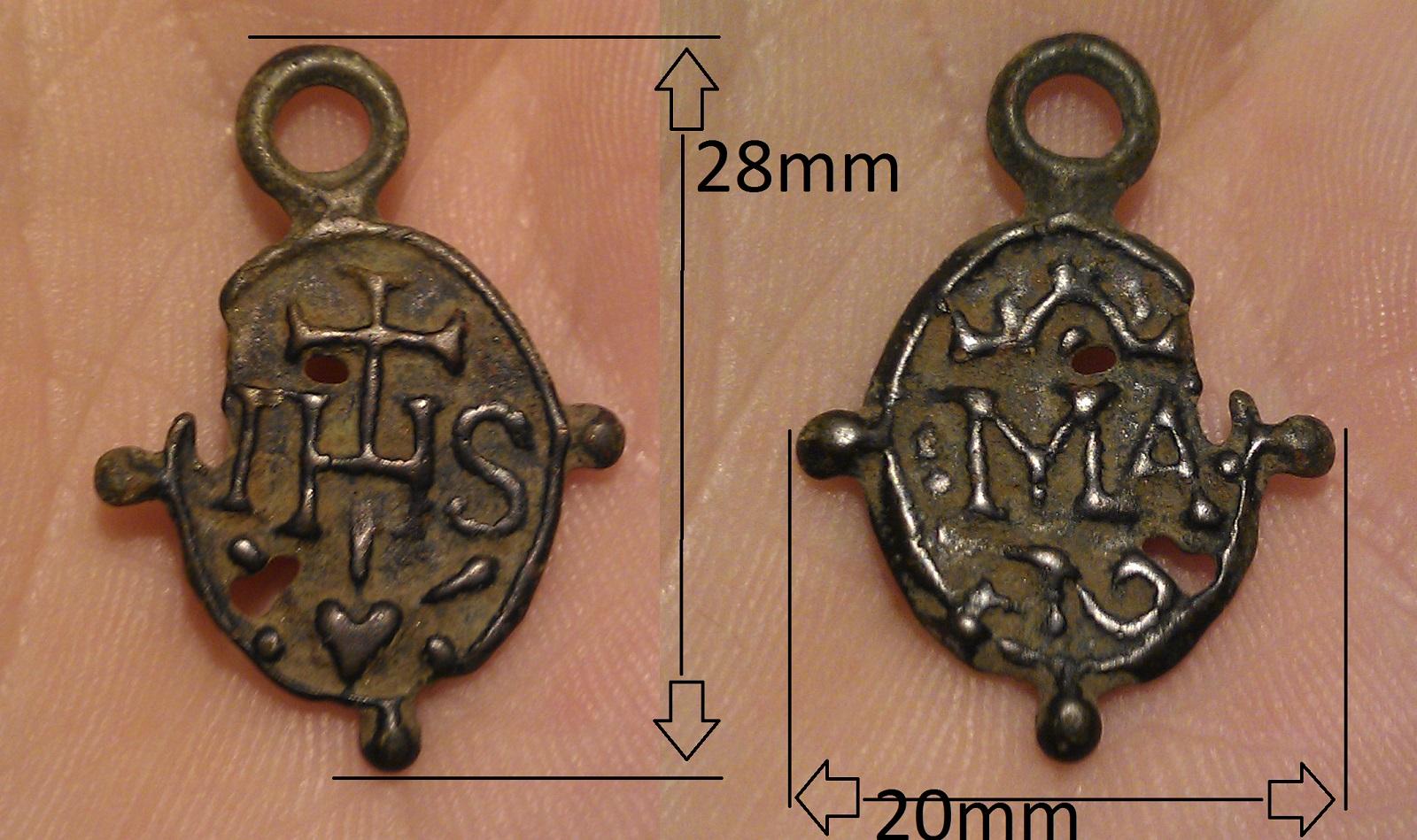Nomina Sacra IHS / Monograma de María (R.M. SXVII-O415) (Pe Nomina Sacra 19b) 34fk5ew