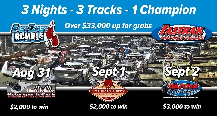 OVER $33,000 UP FOR GRABS THIS WEEKEND WITH FASTRAK EAST COAST RUMBLE 34jawr7