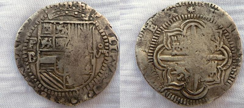 8 reales S/F (1577-1585). Felipe II. Potosí 677eia
