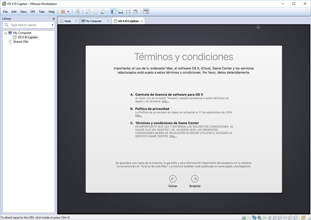 [TUTORIAL] VMWARE: INSTALANDO OS X EL CAPITÁN EN OS X Y WINDOWS... A LA BILBAÍNA B8ntli