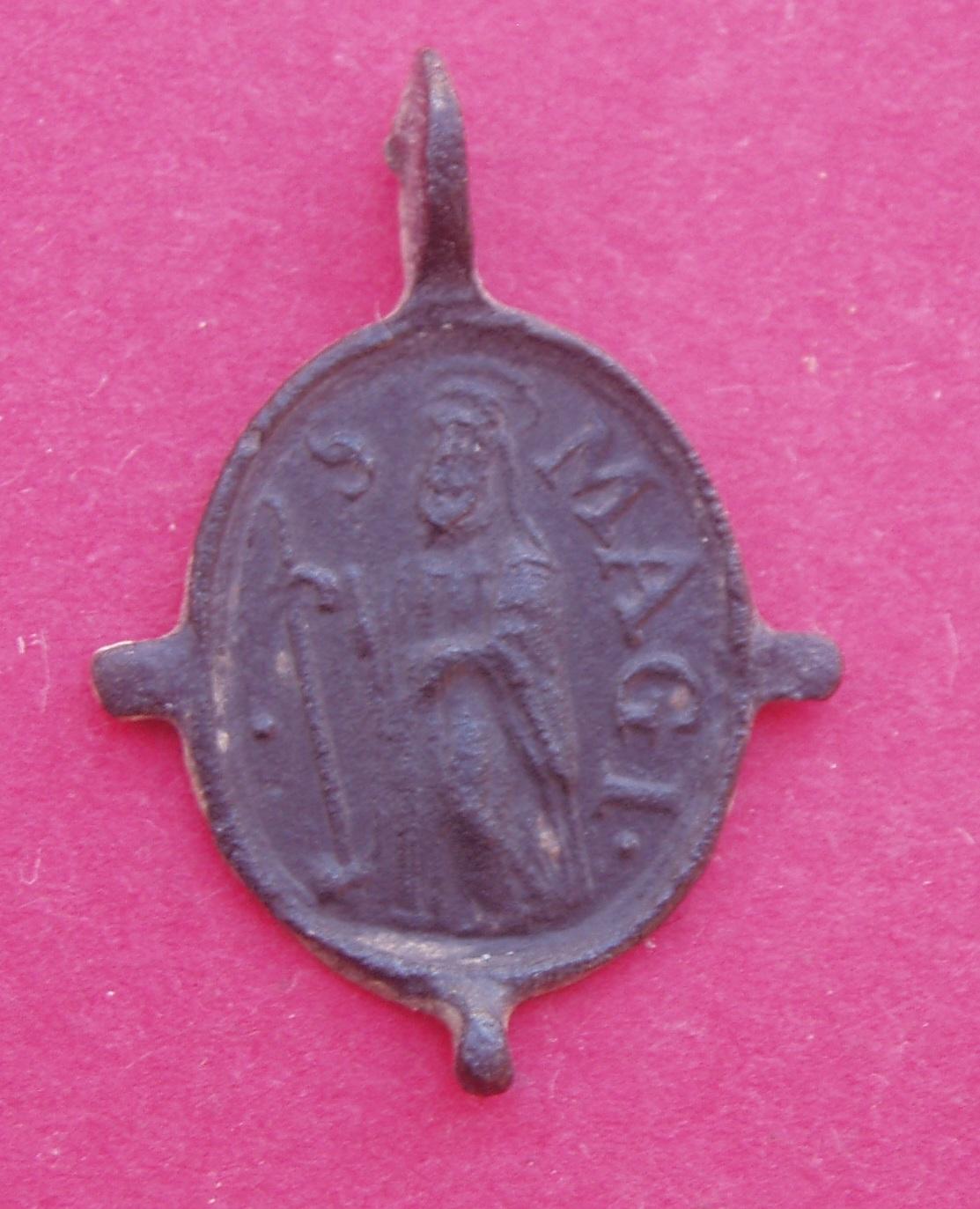 Medalla San Magín / SS. Sacramento  Siglo XVI (R.M. SXVII-O408) Cizxk