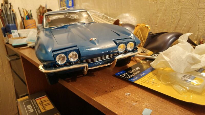 Revell 1/8 65 corvette stingray  E695j5