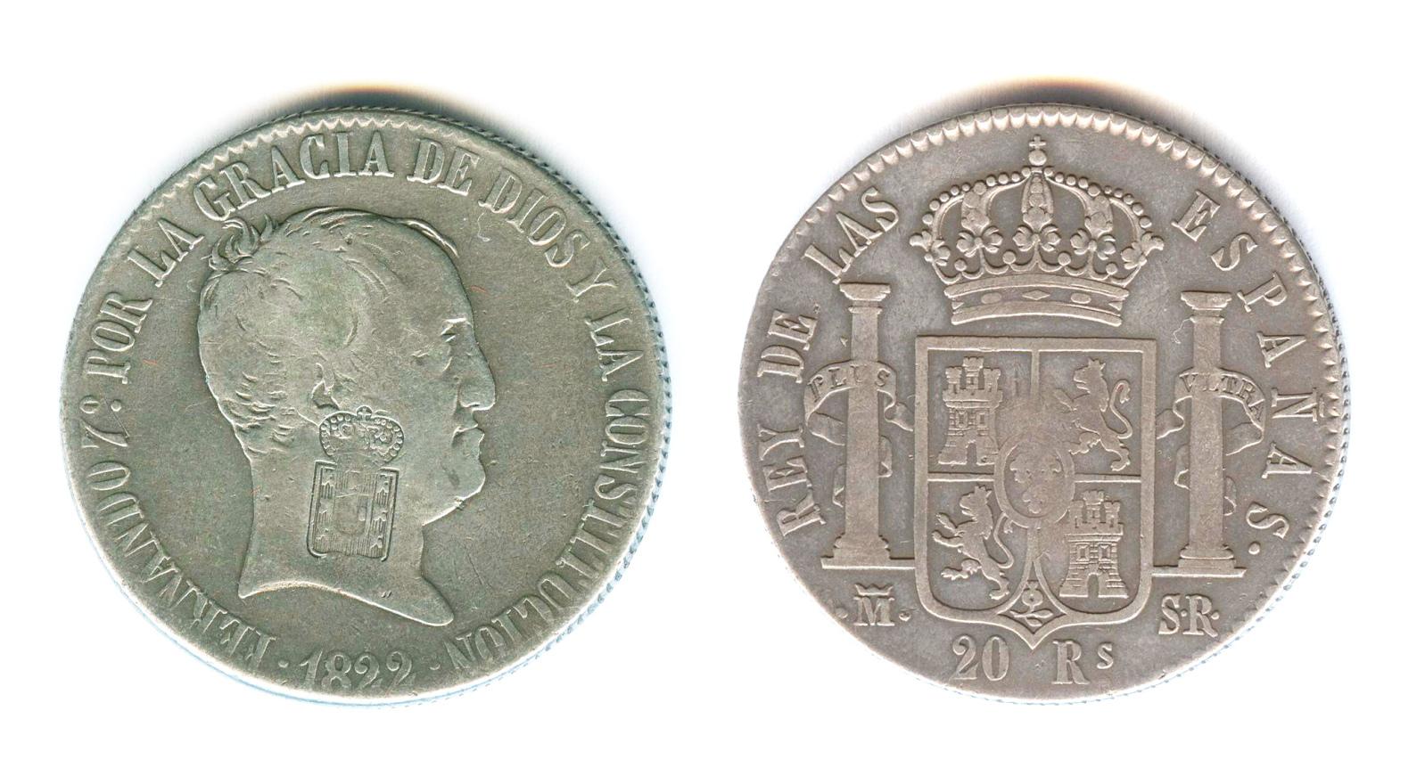 Fernando VII 20 Rles. 1822 Hwh0fb