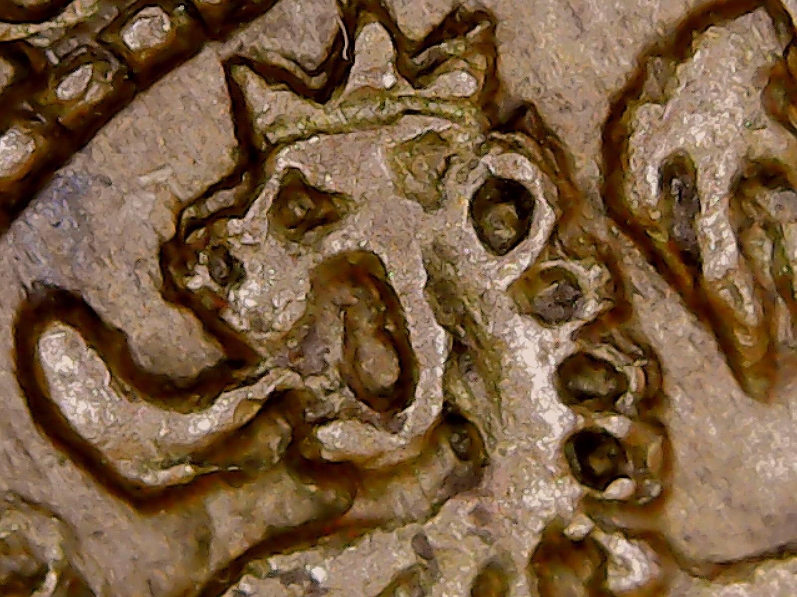 Resultados de un microscopio USB: detalles de las monedas  I6y32a