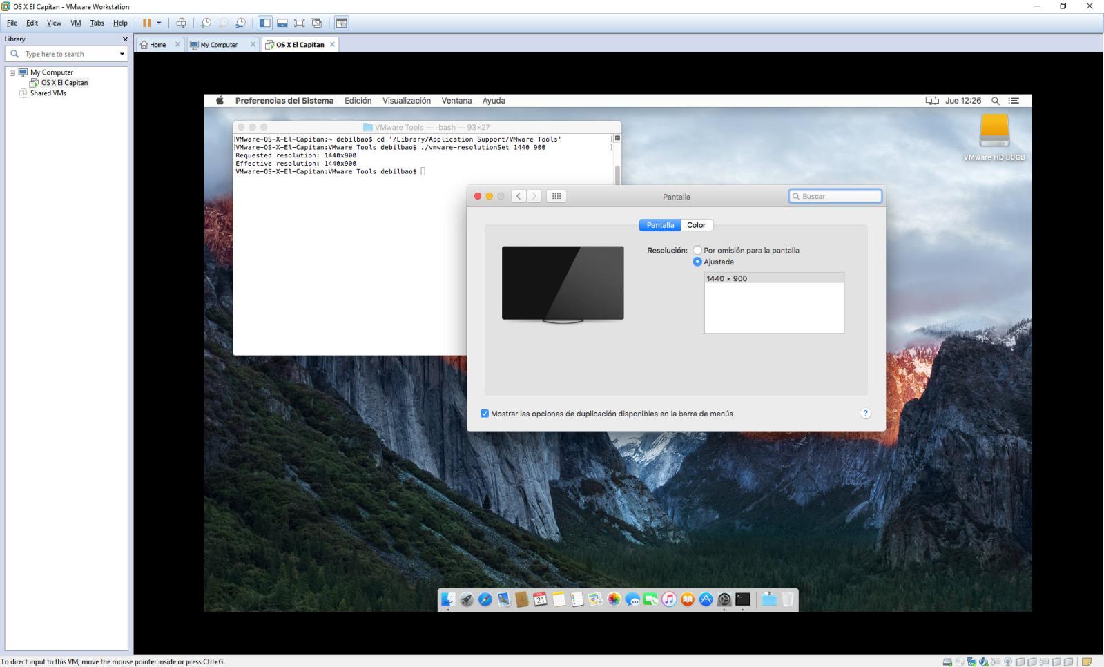 [TUTORIAL] VMWARE: INSTALANDO OS X EL CAPITÁN EN OS X Y WINDOWS... A LA BILBAÍNA Igxiq0