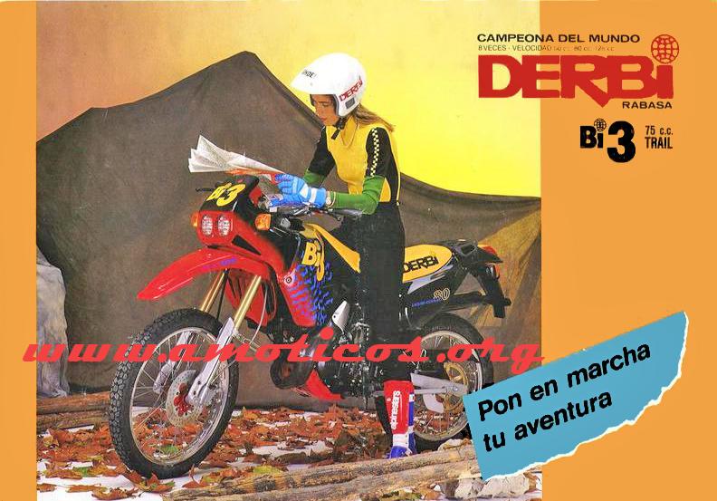 ¿Características Derbi Bi3? Iptd3r