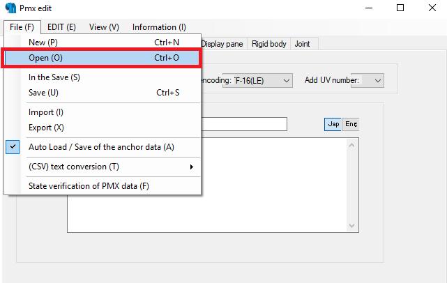 Conversión de archivos 3d MMD con el PMX Editor para The Movies No95d3