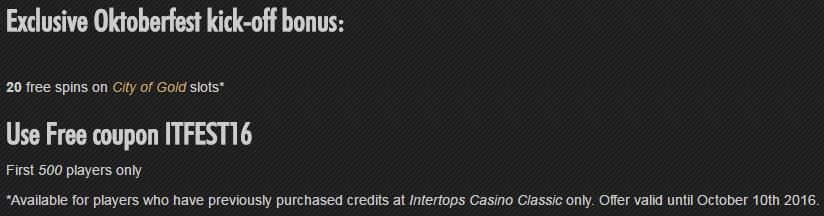 Intertops kasyno - darmowe promocje O89km1