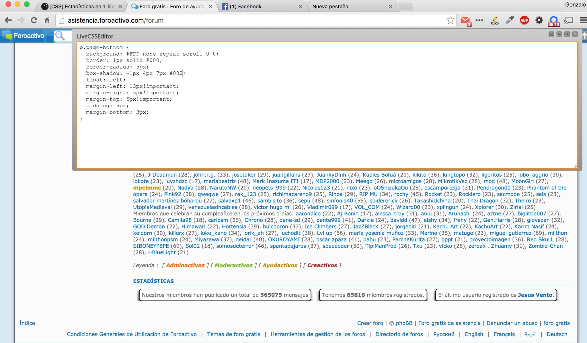 [CSS] Estadísticas en 1 línea Xd579i