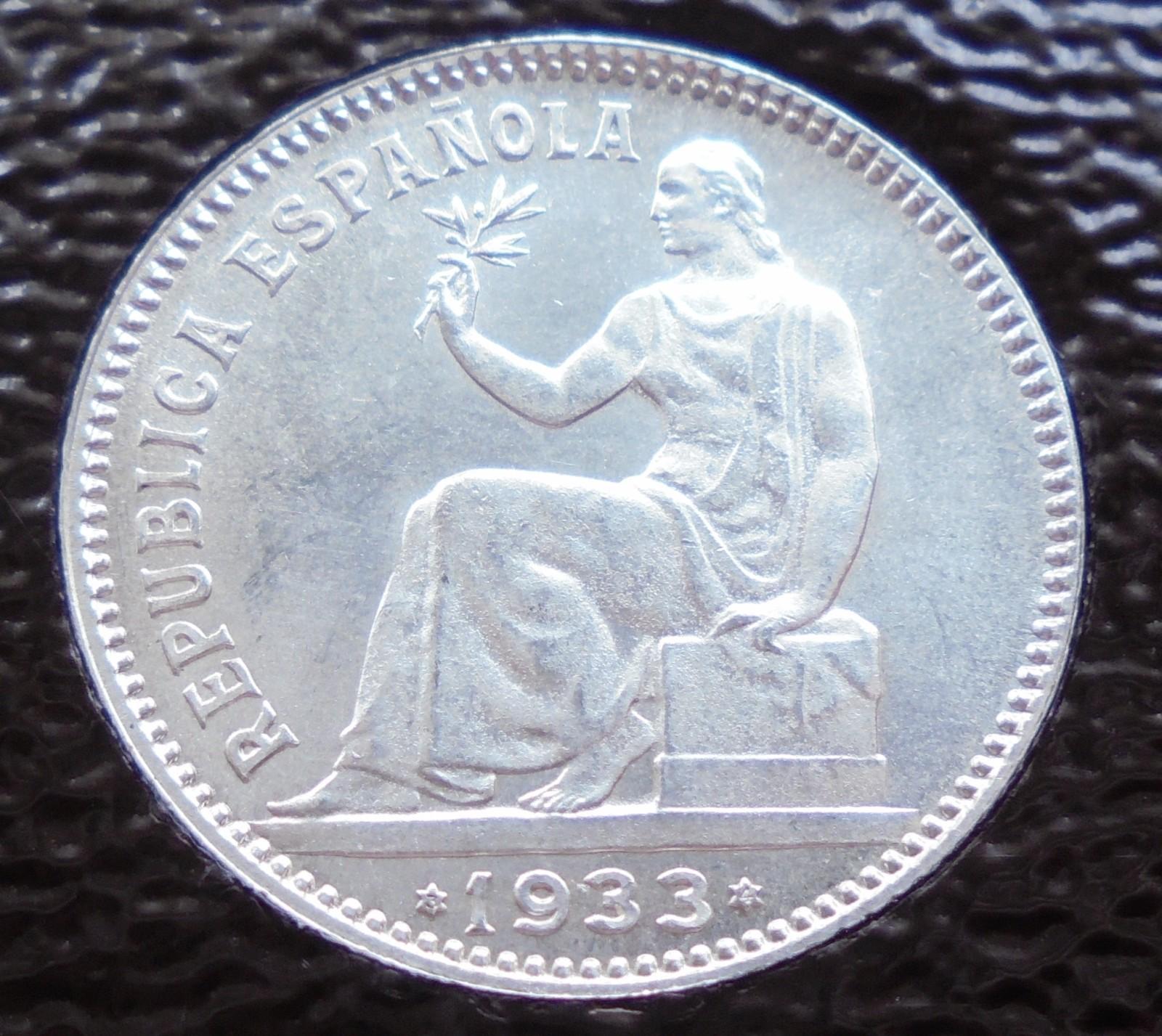 1 peseta 1933. II República Xf2sux