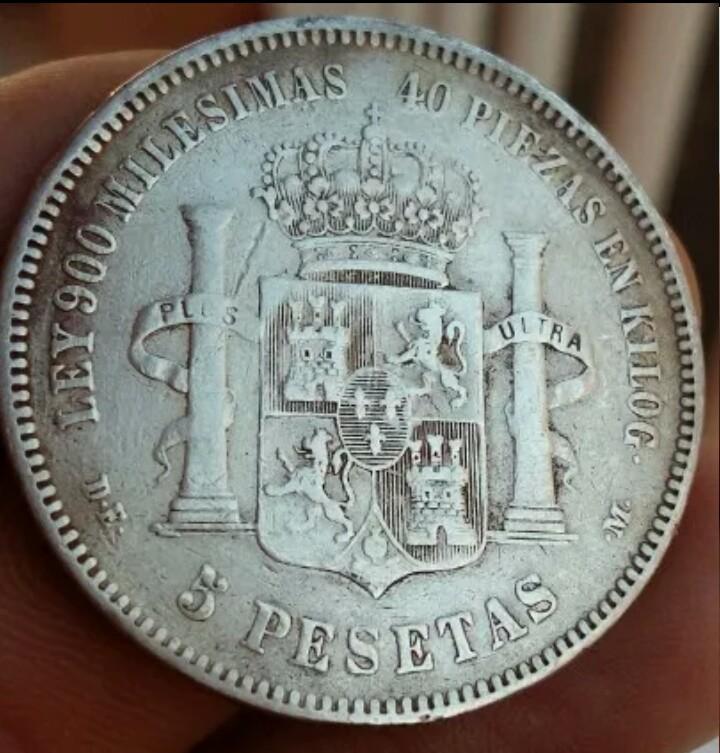 Duro de Alfonso XII del año 1876 10x4x1v