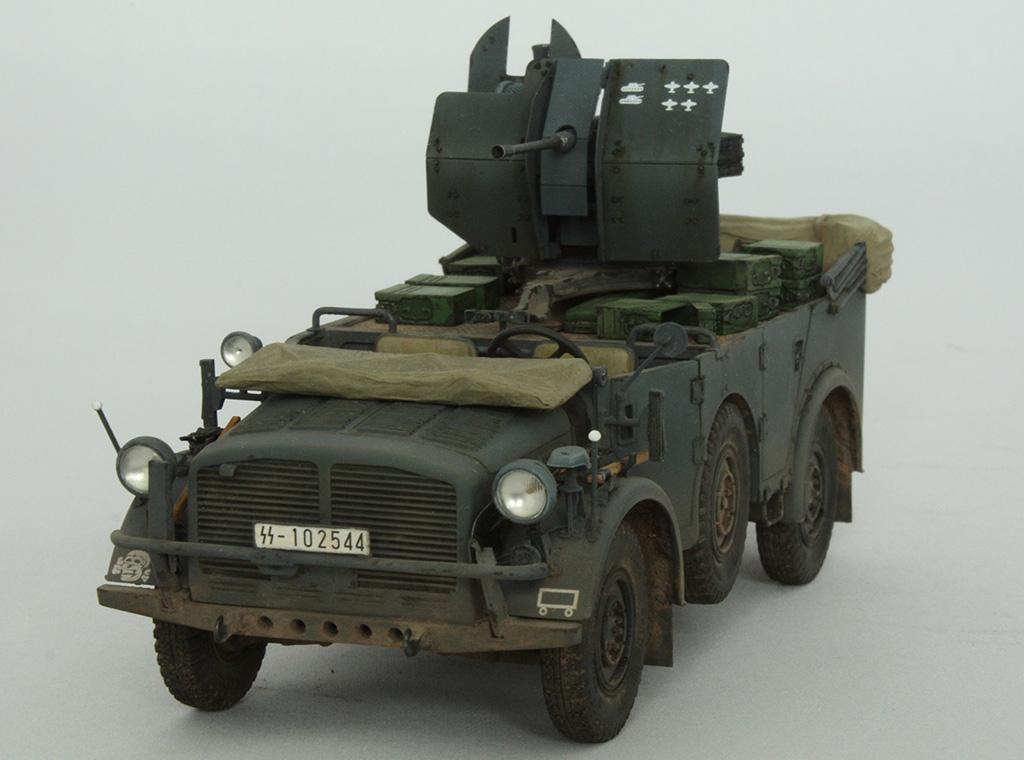 Horch Typ 1a w/2cm Flak 38 конверсия Tamiya+Dragon 1/35 14n2ss1