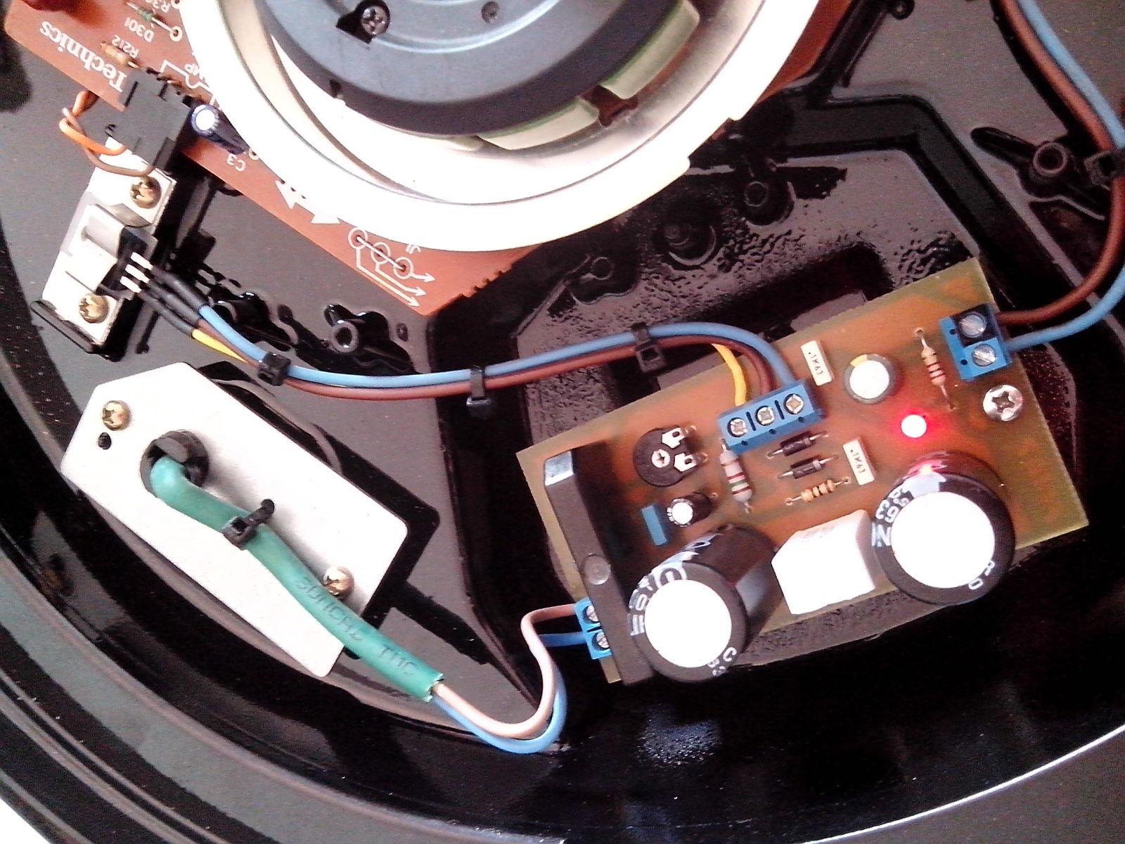 Restauración y mejora de un Technics SL1200 15e94bk