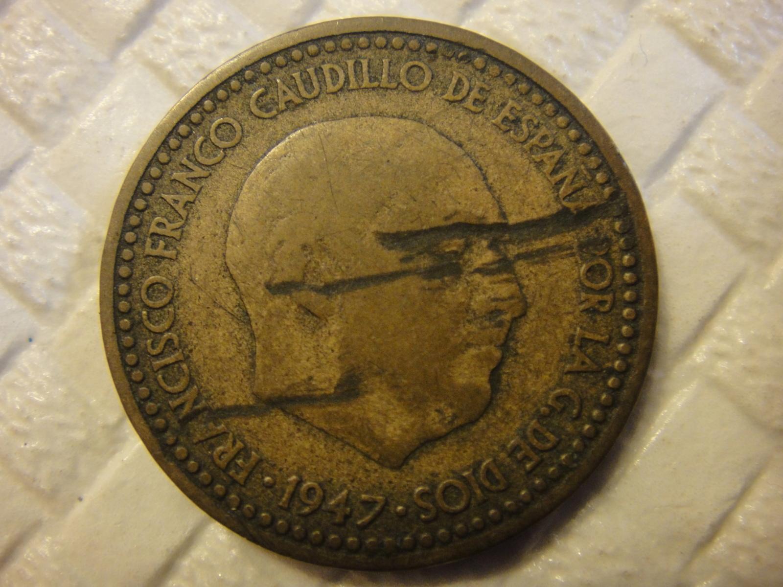 Opinión moneda 1 peseta Franco 1947 15h1xjm